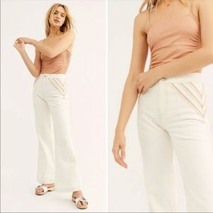 Free People 🌸 Over the Rainbow Flare Jeans